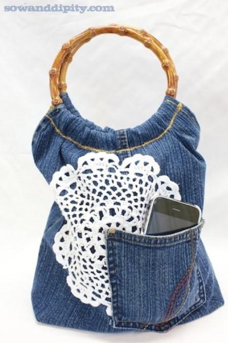 Jean reciclado ideas para hacer bolsos diario artesanal - Cosas hechas a mano para vender ...