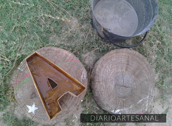 C mo hacer moldes para letras de cemento diario artesanal - Moldes de cemento ...