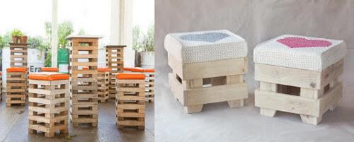 Muebles con palets 70 ideas creativas diario artesanal - Sillas hechas con palets ...
