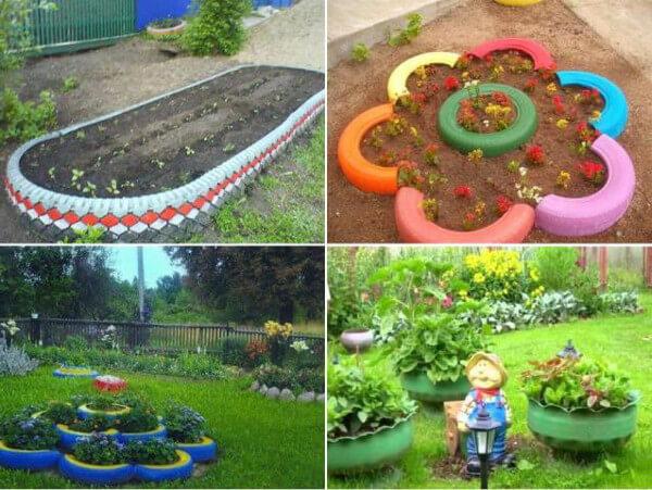 20 ideas de maceteros con neum ticos reciclados diario for Cosas recicladas para el jardin