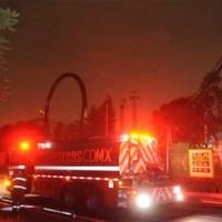 fuego en la feria de chapultepec