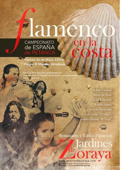 El parque El Majuelo de Almuñécar acoge esta noche una velada flamenca