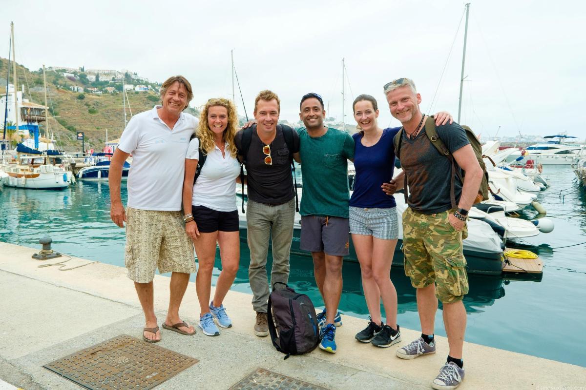 Finaliza la visita de un grupo de periodistas holandeses tras conocer el turismo activo del destino Almuñécar La Herradura
