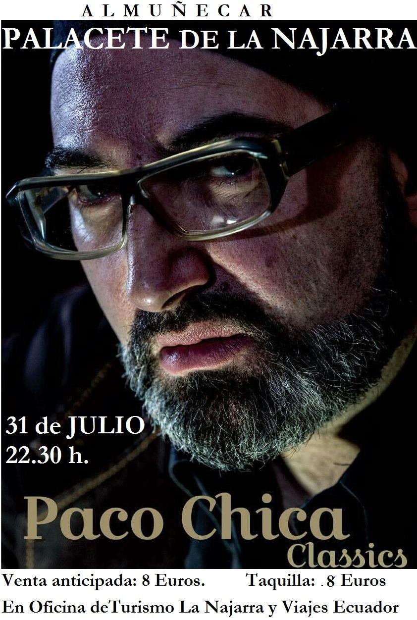 Concierto de Paco Chica en el Palacete La Najarra donde presentará su trabajo Classics