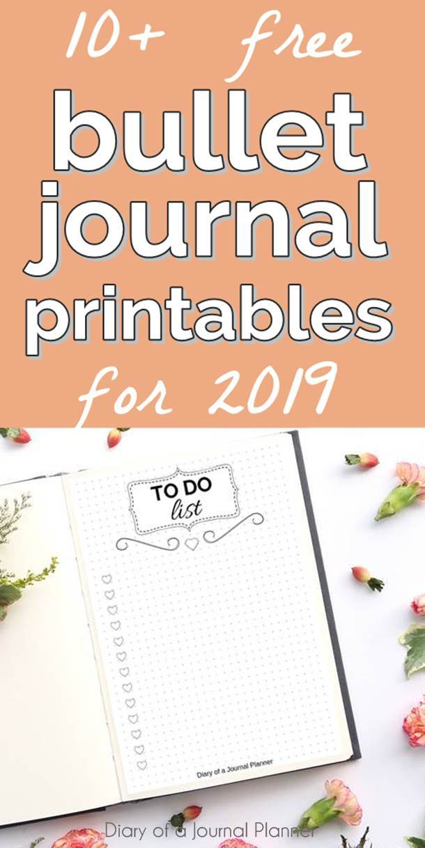 Free bullet journal printables and pages that will get you super