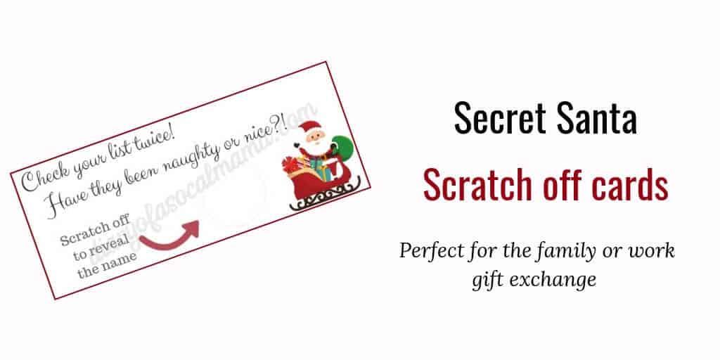 Printable Secret Santa Reveal \u2013 Best Cars 2018