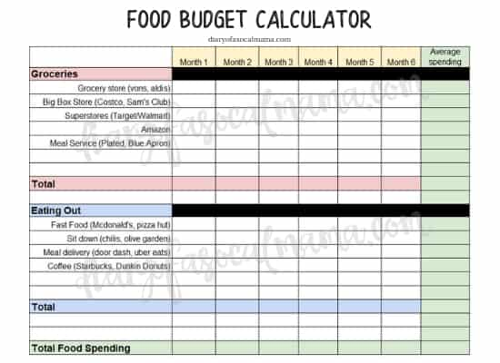 5 Steps to Reducing your food budget  saving money - Diary of a So