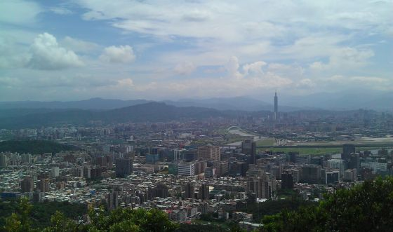 Taipei from a hilltop.