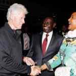 Former US President Bill Clinton arrives in Kenya
