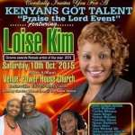 Kenyans Got Talent Event with Loise Kim in Beltsville MD
