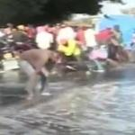 VIDEO: Shock as Residents Wash Streets Ahead of Raila Visit