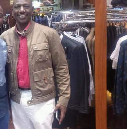 DP Ruto also in an brown jacket