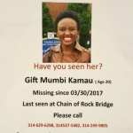 Help needed to find a Kenyan student missing in Missouri