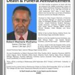 Death and Funeral announcement for Robert Macharia Muthama