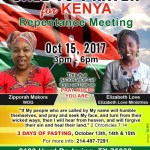Call To Prayer For Kenya-Repentance Meeting