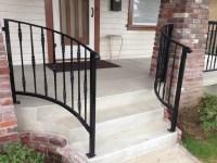Porch wrought iron guard rail | Diaz Gates