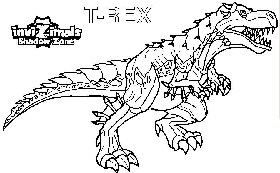 Trex Coloring Page - Castrophotos