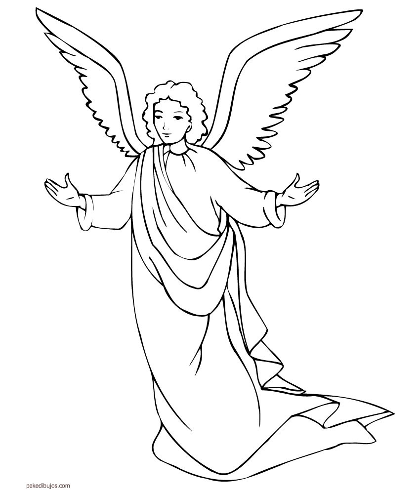 Angel De La Guarda Para Colorear Angel Info Dibujos De