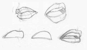 dibujos a lapiz de labios (6)