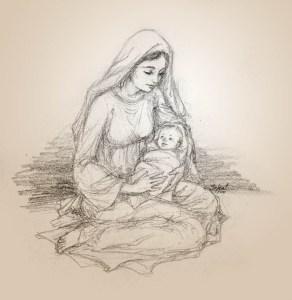 Dibujos a lápiz de navidad (6)