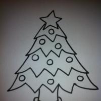 dibujos a lápiz de arbolitos de navidad (5)