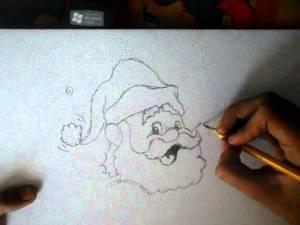 dibujos a lapiz de papa noel (4)