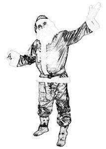 dibujos a lapiz de papa noel (5)