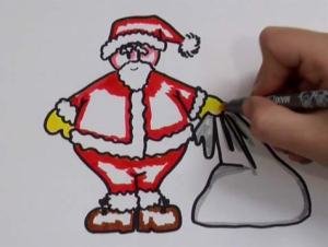 dibujos a lapiz de papa noel (6)