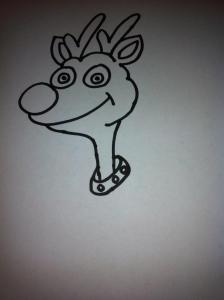 dibujos a lapiz de renos (3)