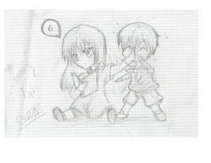 Dibujos a lápiz de animé (5)