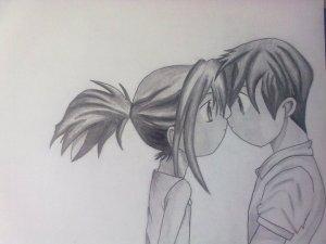 Dibujos a lápiz de animé (6)