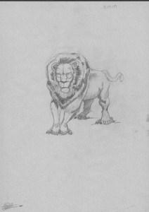 Dibujos a lápiz de leones (8)