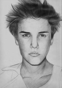 Dibujos a lápiz de Justin Bieber (6)