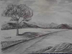 dibujos a lapiz de paisajes (2)