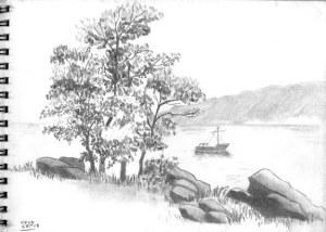 dibujos a lapiz de paisajes (4)