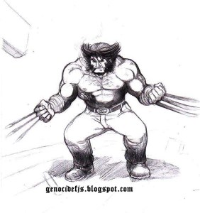 dibujos a lapiz de wolverine (5)