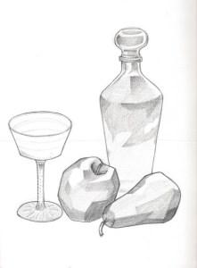Dibujos a lápiz de bodegones (1)