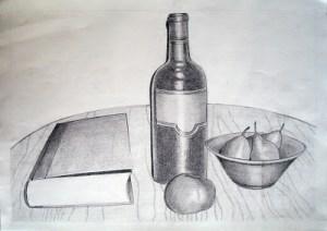 Dibujos a lápiz de bodegones (5)