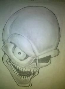 Dibujos a lápiz de calaveras (1)