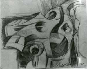 Dibujos a lápiz de calaveras (8)