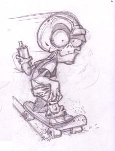 Dibujos a lápiz de calaveras (9)