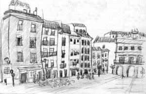 Dibujos a lápiz de paisajes (11)