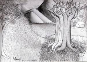 Dibujos a lápiz de paisajes (9)