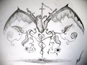 Dibujos a lápiz con corazones (14)