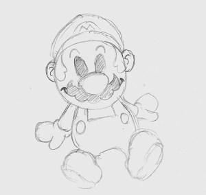 Dibujos a lápiz de Mario Bros (9)
