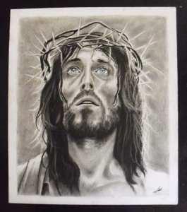 Dibujos a lápiz de jesús (10)