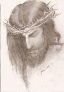 Dibujos a lápiz de jesús (8)