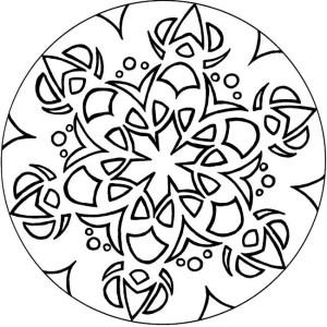 Dibujos a lápiz de mandalas (5)