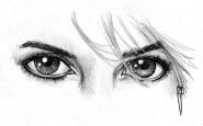 Dibujos a lápiz de ojos (1)