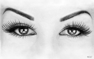 Dibujos a lápiz de ojos (13)